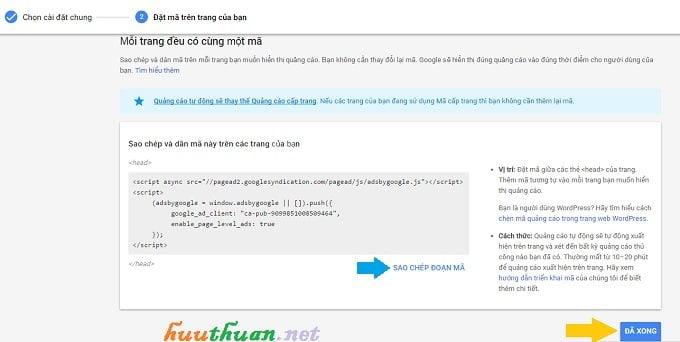 Kích hoạt tính năng tự động phân phối quảng cáo trong Google Adsense 3