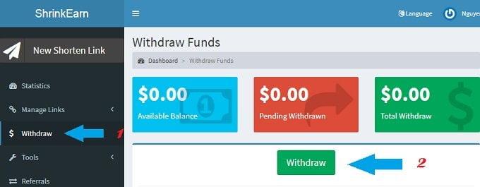 Kiếm tiền bằng cách rút gọn link thanh toán cao nhất 3USD tại Việt Nam 10