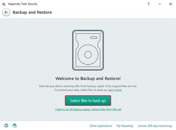 Cách sao lưu dữ liệu an toàn với Kaspersky Total Security 2