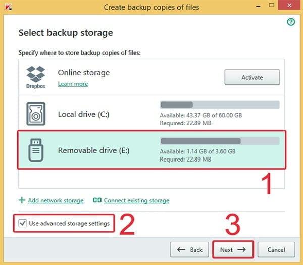 Cách sao lưu dữ liệu an toàn với Kaspersky Total Security 4
