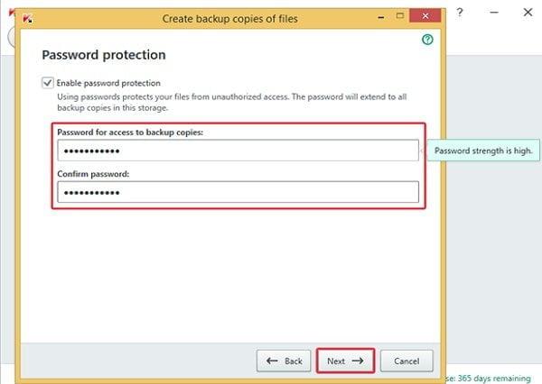 Cách sao lưu dữ liệu an toàn với Kaspersky Total Security 7