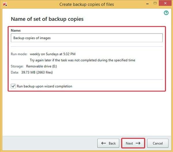 Cách sao lưu dữ liệu an toàn với Kaspersky Total Security 9