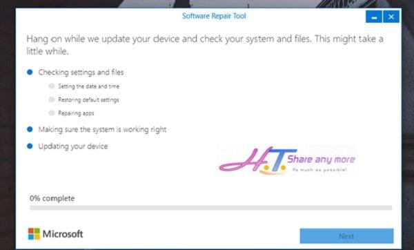 Cách sử dụng công cụ Software Repair Tool để sửa lỗi Windows 10 4