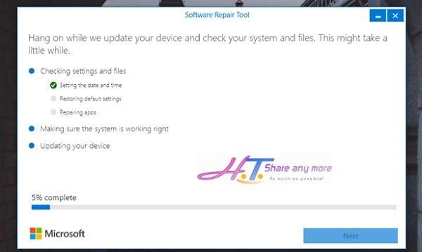Cách sử dụng công cụ Software Repair Tool để sửa lỗi Windows 10 5