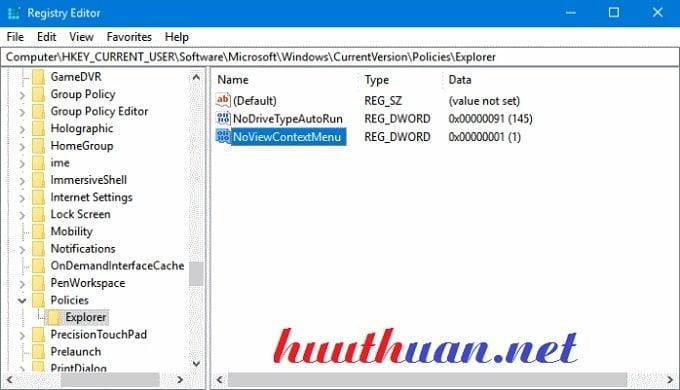Sửa lỗi không thể nhấp chuột phải trên màn hình Desktop Windows 10 2