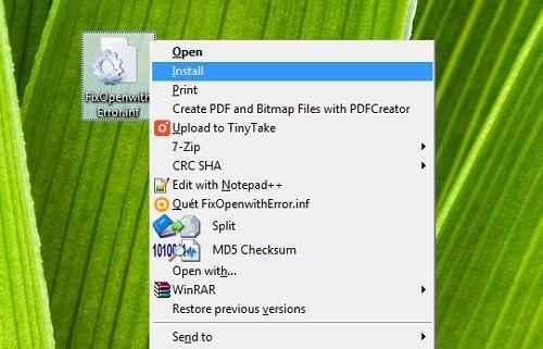 Cách sửa lỗi tất cả các tập tin mở bằng một ứng dụng khác 2