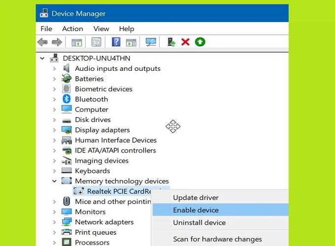 Cách sửa lỗi thẻ SD không hiển thị trong Windows Explorer 5