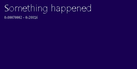 "sửa lỗi ""Something Happened"" windows 10"