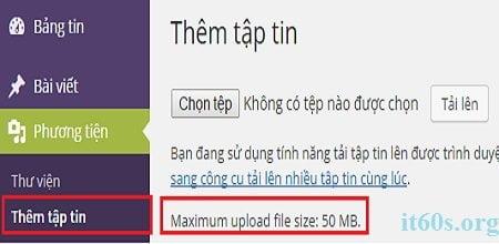 """Khắc phục lỗi """"The uploaded file exceeds"""" khi cài Plugin và theme"""