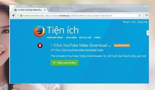 Cách tải mọi video trên youtube bằng trình duyệt Firefox