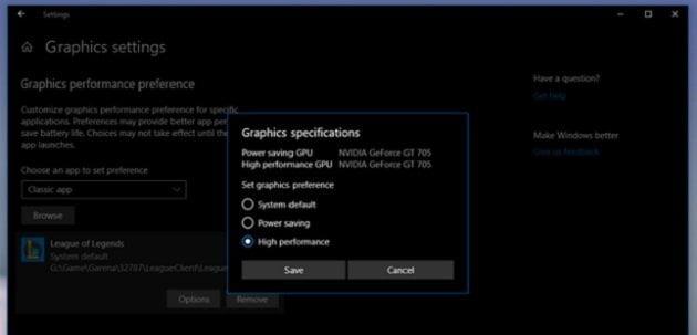 Cách kích hoạt tính năng tăng tốc xử lý cho ứng dụng trong Windows 10 6
