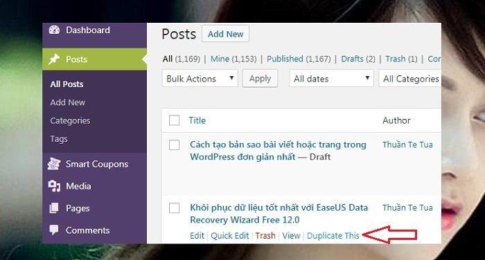 Cách tạo bản sao bài viết hoặc trang trong Wordpress đơn giản nhất 2