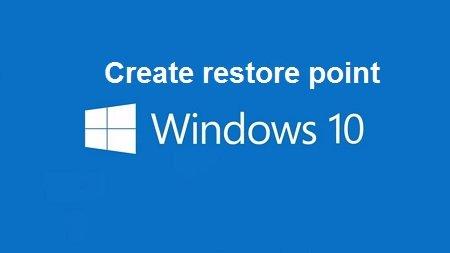 tao diem khoi phuc windows10
