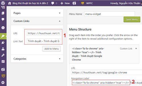 Cách tạo icon cho các chuyên mục hiển thị trên Widget 2