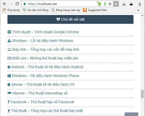 Cách tạo icon cho các chuyên mục hiển thị trên Widget 5