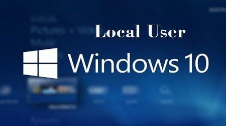 tạo Local User (tài khoản phụ) trong windows 10
