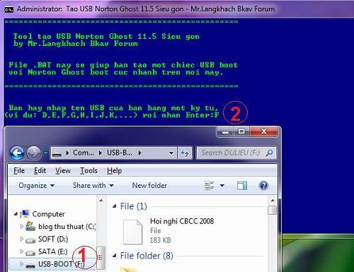 khắc phục hiện tượng treo máy tính khi sử dụng USB Boot