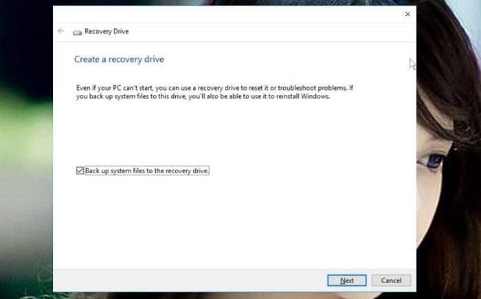 Cách tạo USB Recovery phục hồi hệ thống cho windows 10 1
