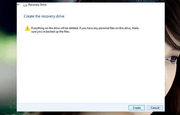 Cách tạo USB Recovery phục hồi hệ thống cho windows 10 4