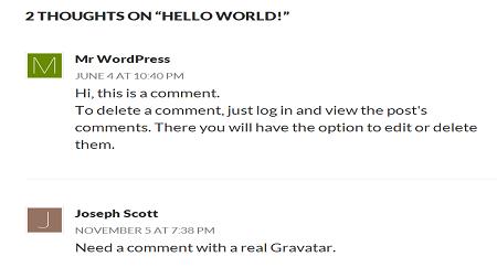 Hiển thị Avatar theo bảng chữ cái khi độc giả bình luận trên wordpress