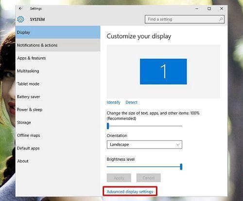 Cách thay đổi độ phân giải màn hình trong Windows 10 đơn giản 3