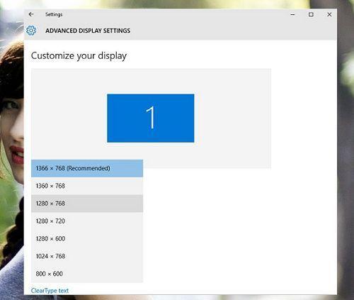 Cách thay đổi độ phân giải màn hình trong Windows 10 đơn giản 4