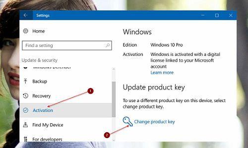 dễ dàng thay đổi mã sản phẩm trong Windows 10