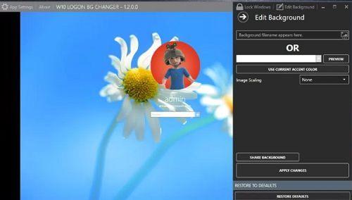 thay đổi màn hình đăng nhập trên windows 10