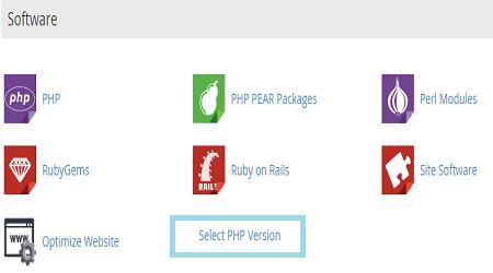 Cách thay đổi phiên bản php trên hosting Cpanel cho website