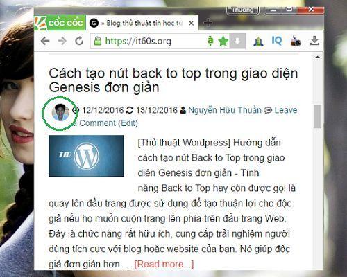 thêm Gravatar vào Post Info trong giao diện Genesis