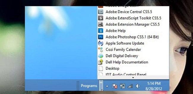 Cách thêm thư mục All Programs vào thanh taskbar trên windows 2