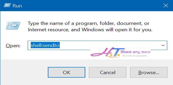 Thêm thư mục, ứng dụng vào thuộc tính Send to trong Windows 10 2