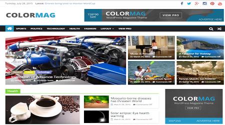 Theme tin tức wordpress ColorMag miễn phí cực đẹp