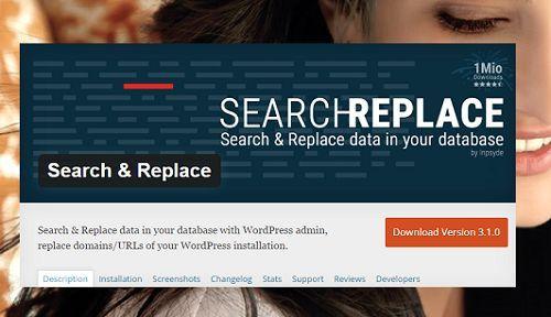 tìm kiếm và thay thế dữ liệu trong WordPress đơn giản