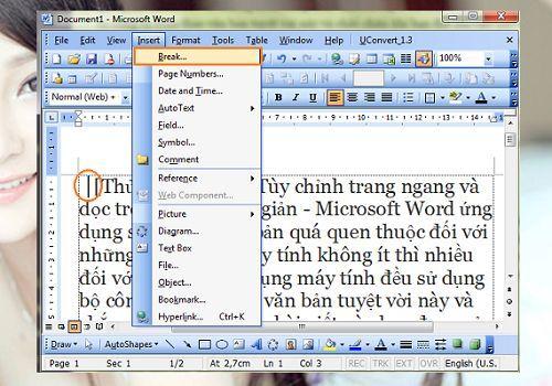 tùy chỉnh trang ngang và dọc trong Word đơn giản