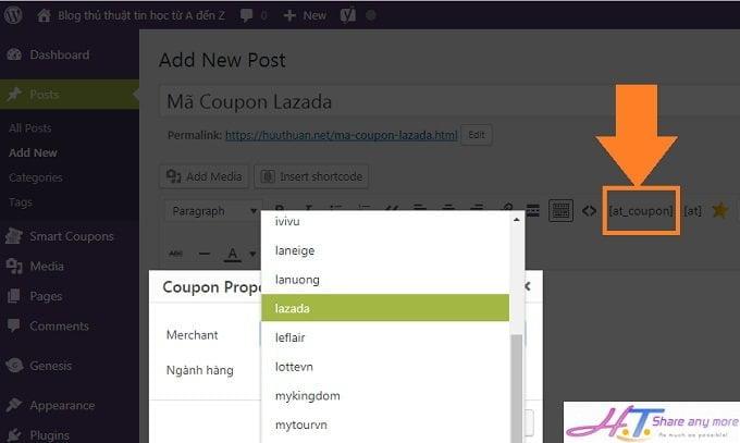 Cách tạo mã giảm giá, Voucher tự động cập nhật trong tiếp thị liên kết 6