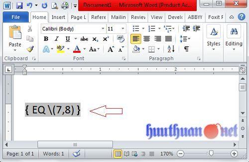 Cách viết phân số trong Microsoft Word đơn giản nhất 1
