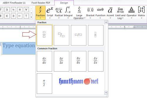 Cách viết phân số trong Microsoft Word đơn giản nhất 4