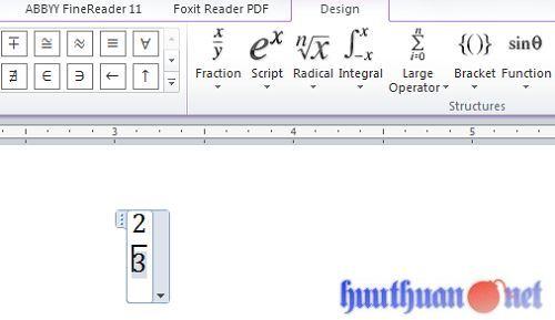 Cách viết phân số trong Microsoft Word đơn giản nhất 5