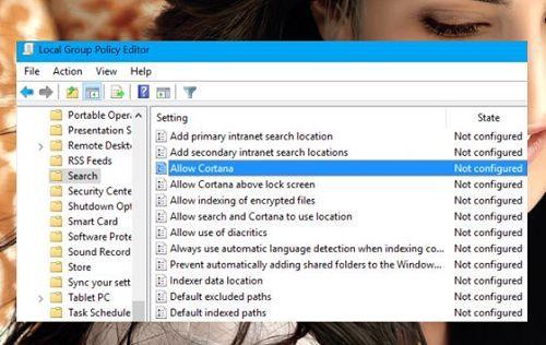 vô hiệu hóa Cortana trong Windows 10 Anniversary