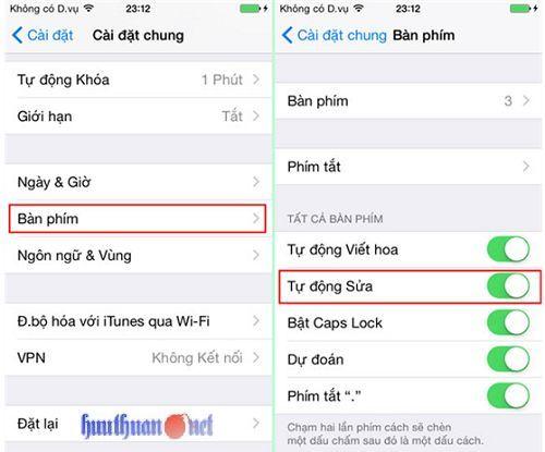 Cách vô hiệu hóa tính năng gợi ý và sửa lỗi chính tả trên Iphone 2