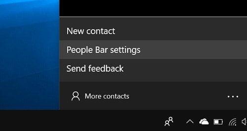 Cách vô hiệu tính năng My People từ Windows 10 Taskbar 7