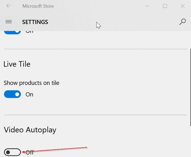 Cách ngăn chặn video tự động phát trong Windows 10 Store 1