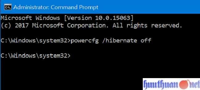 Cách xóa tập tin Hiberfil.sys (Hibernation) trong Windows 10 5