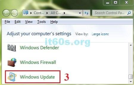 Thủ thuật máy tính vô hiệu hóa tự động cập nhật windows 7