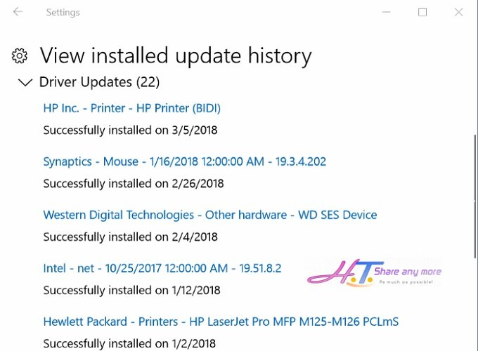 Cách xem các bản cập nhật mới nhất trong Windows 10 3