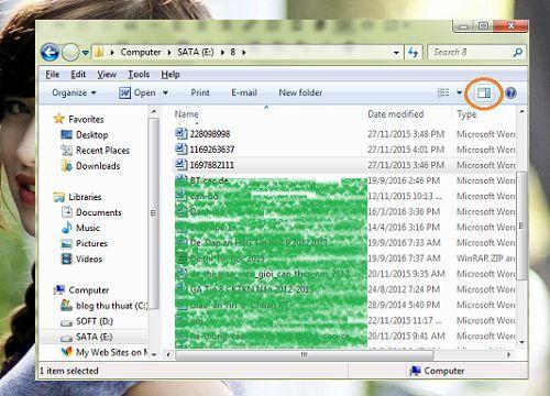 xem nhanh nội dung các văn bản trên Windows
