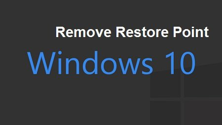 xoa bot Restore Point trong windows10