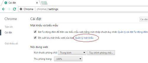 Cách xóa username và password đã lưu trên google chrome 4