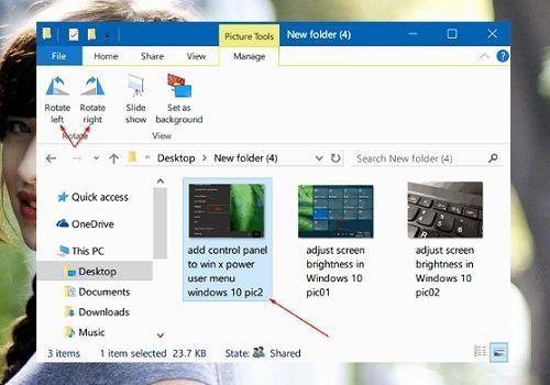 xoay hình ảnh trong Windows 10 đơn giản và nhanh nhất